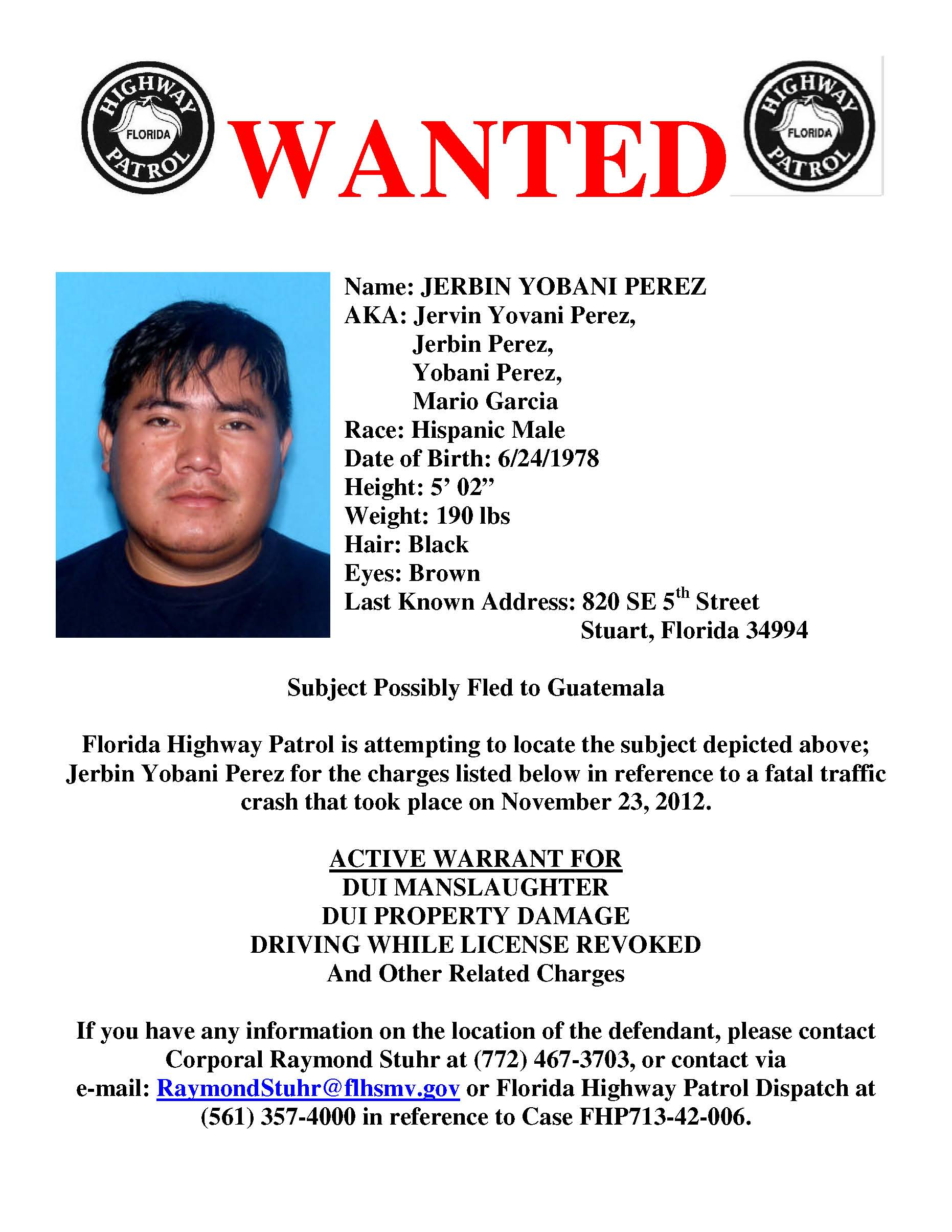Treasure Coast Crime Stoppers – Criminal Wanted Poster