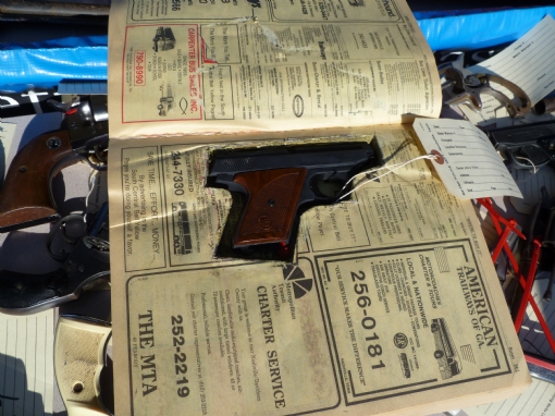 pistol, concealed in the pages of a 1986 Nashville telephone book