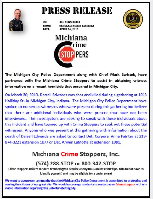 Photo Tip If Your Name Is Joe >> Michiana Crime Stoppers Inc