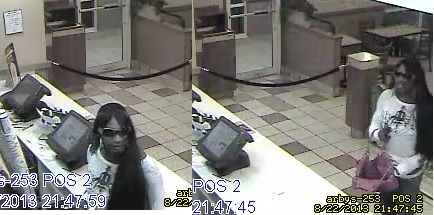 Click to Enlarge Arby's Robbery Suspect