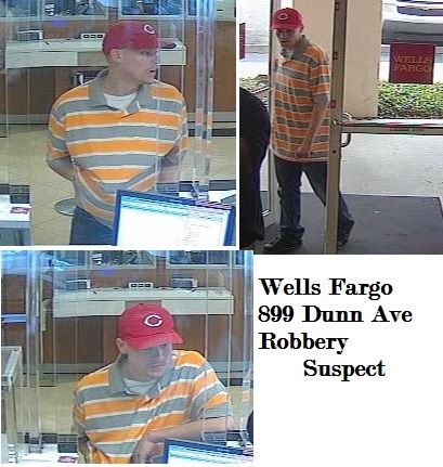 Click to Enlarge Wells Fargo Robbery Suspect