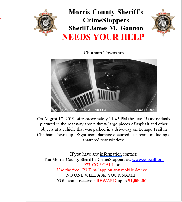 Morris County Sheriff's Crime Stoppers